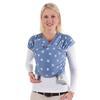 HOPPEDIZ Maxi elastický šátek na nošení dítěte modrý Melange s Chalkprint 123f4eb7a1