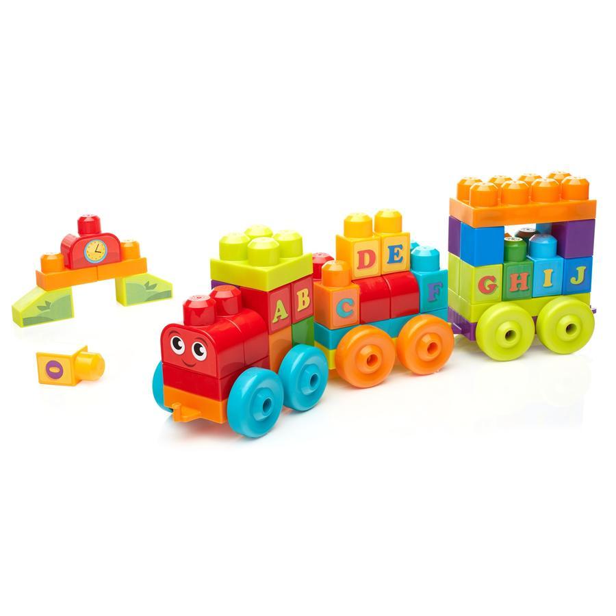 Mega Bloks: First Builders vláček s písmenky