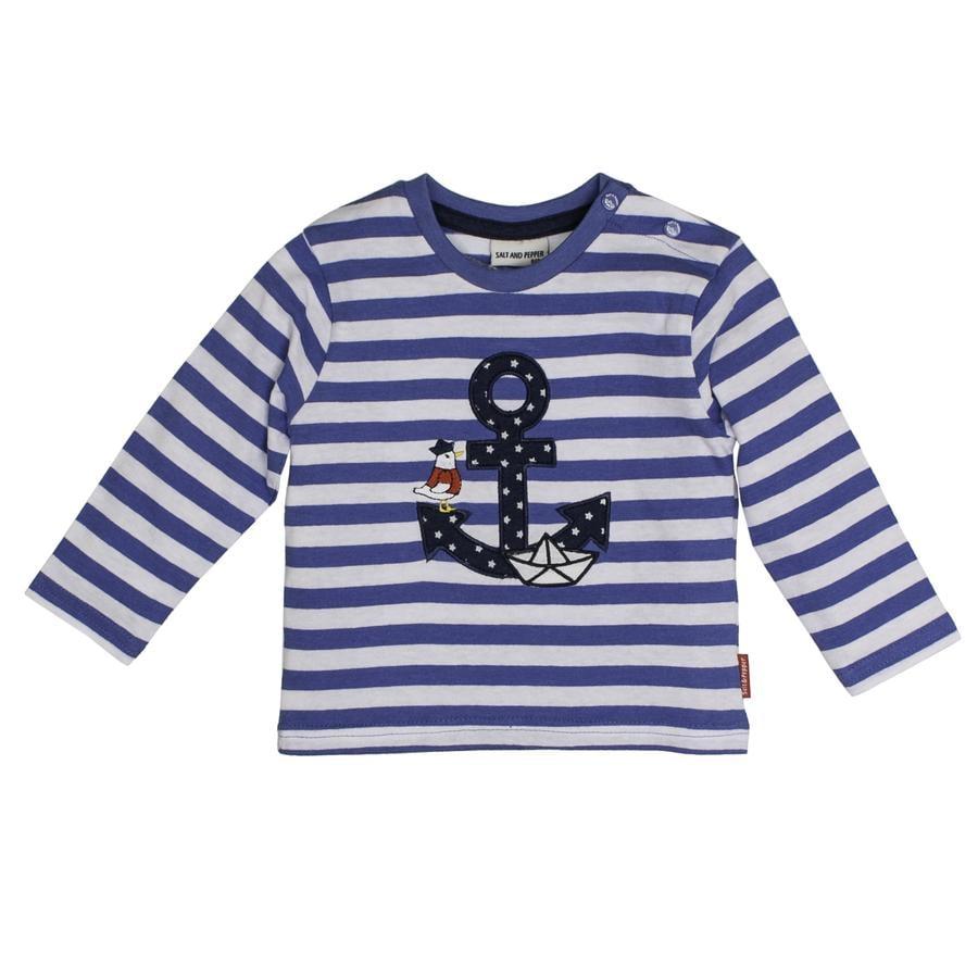 SALT AND PEPPER Chemise manches longues Pirate rayure bleu mélangé