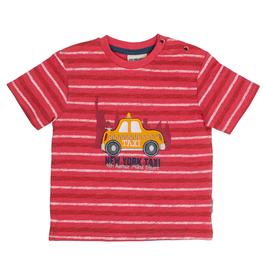 SALT AND PEPPER T-Shirt Just Cool stripe cayenne