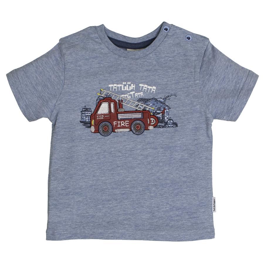 SALT AND PEPPER T-Shirt Gewoon Cool Brand wolkje blauw