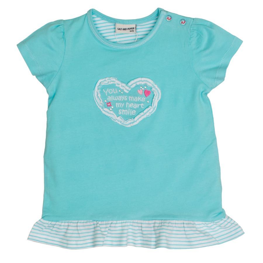 SALT AND PEPPER T-Shirt El amor adorna el cian claro