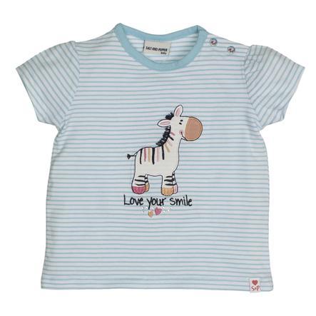 SALT AND PEPPER T-Shirt Liefde Zebra lichtcyaan