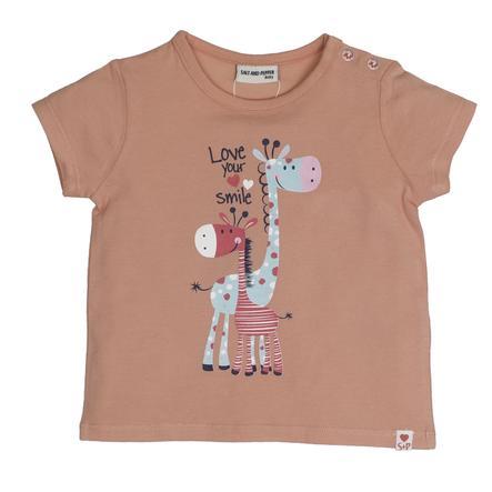 SALT AND PEPPER Baby T-Shirt Love Love print apricot