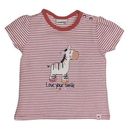 SALT AND PEPPER T-Shirt Love stripe smile summer pink