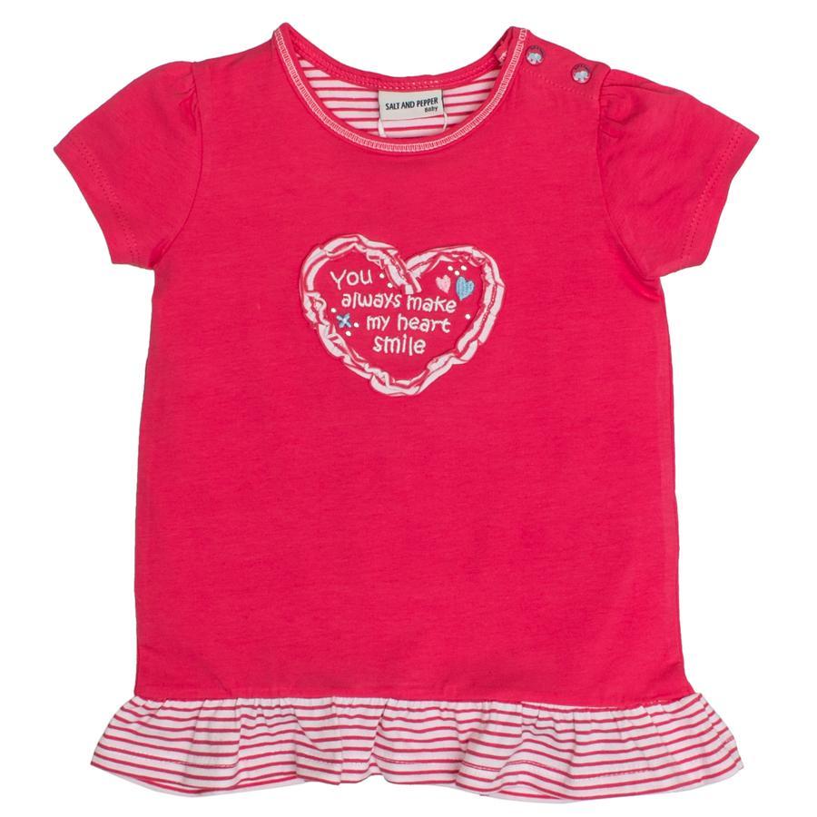 SALT AND PEPPER Baby T-Shirt Love Rüschen summer pink