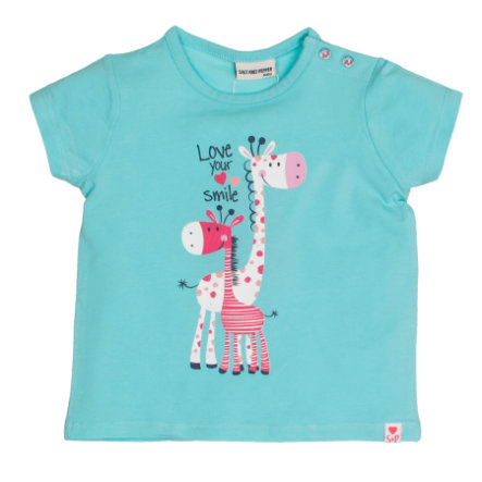 SALT AND PEPPER Baby T-Shirt Love print light cyan