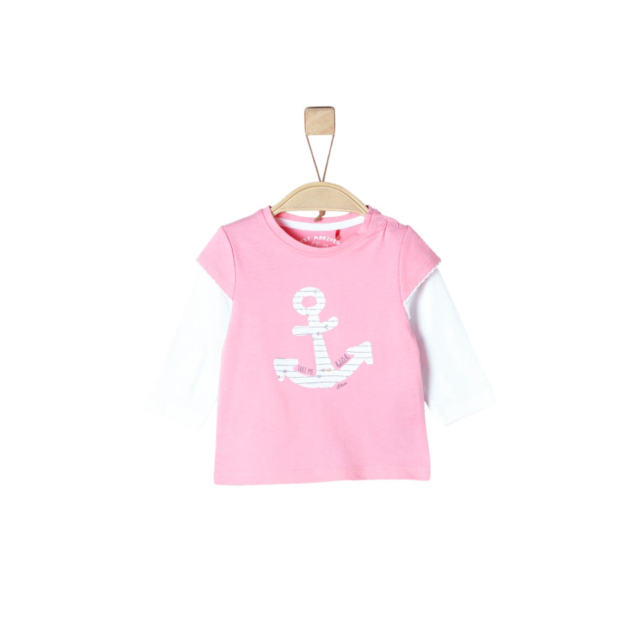 s.Oliver Girl s Chemise manches longues rose clair