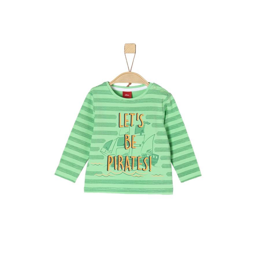 s.Oliver Boys Camisa manga larga verde claro