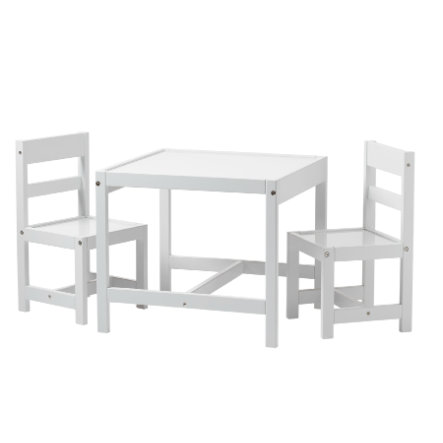 Baby Dan Table Chaises Enfant Blanc Lot De 3