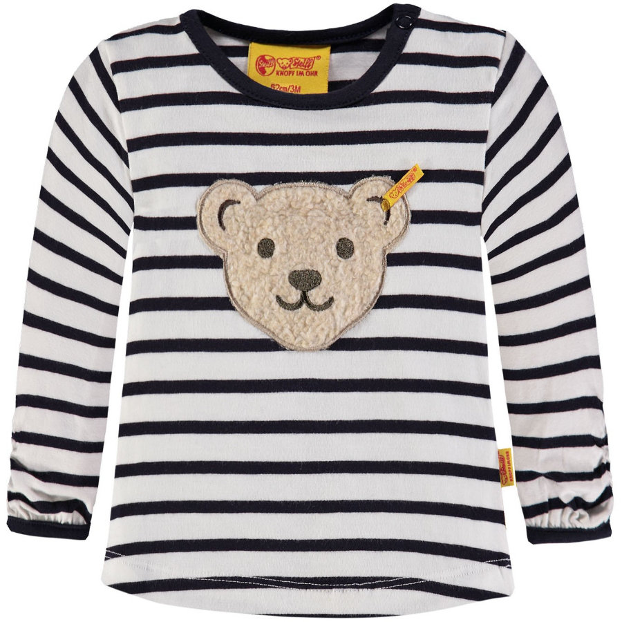 Steiff Girls Langarmshirt, gestreift