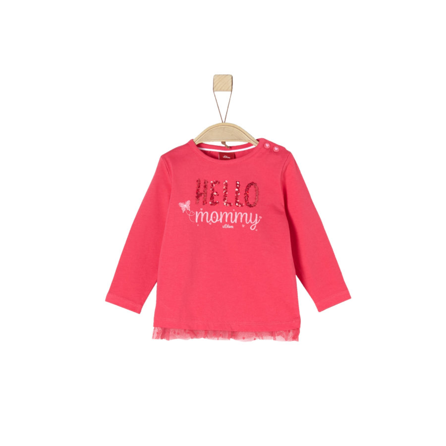 s.Oliver Girl s chemise à manches longues rose