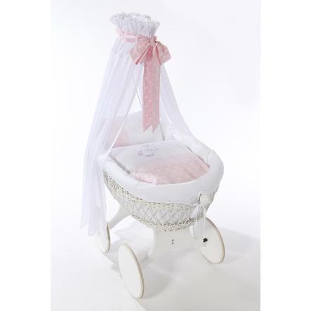 easy baby Set de berceau roulettes licorne rose, 3 pièces