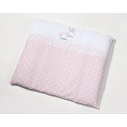 easy baby verschoonkussen 75 x 85 cm Unicorn roze