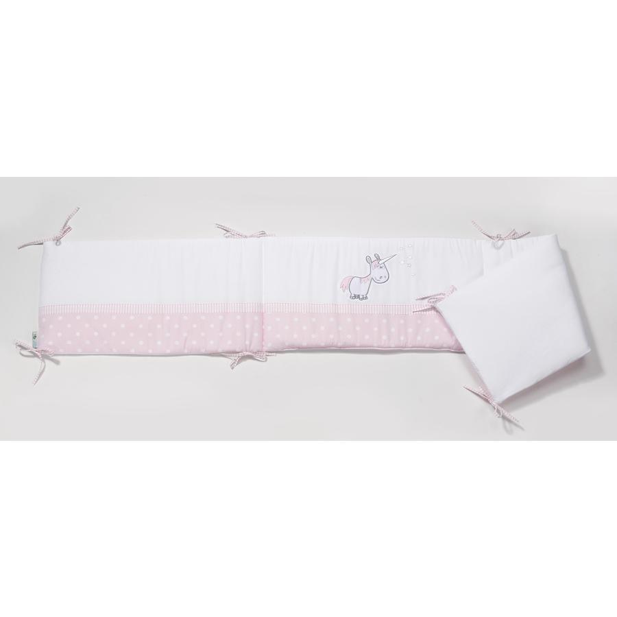 easy baby Tour de lit licorne rose, 210 cm