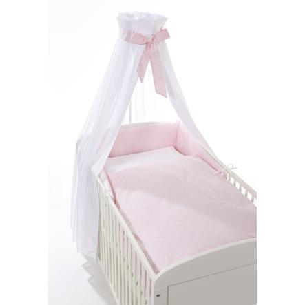 easy baby Set de lit étoiles rose, 3 pièces