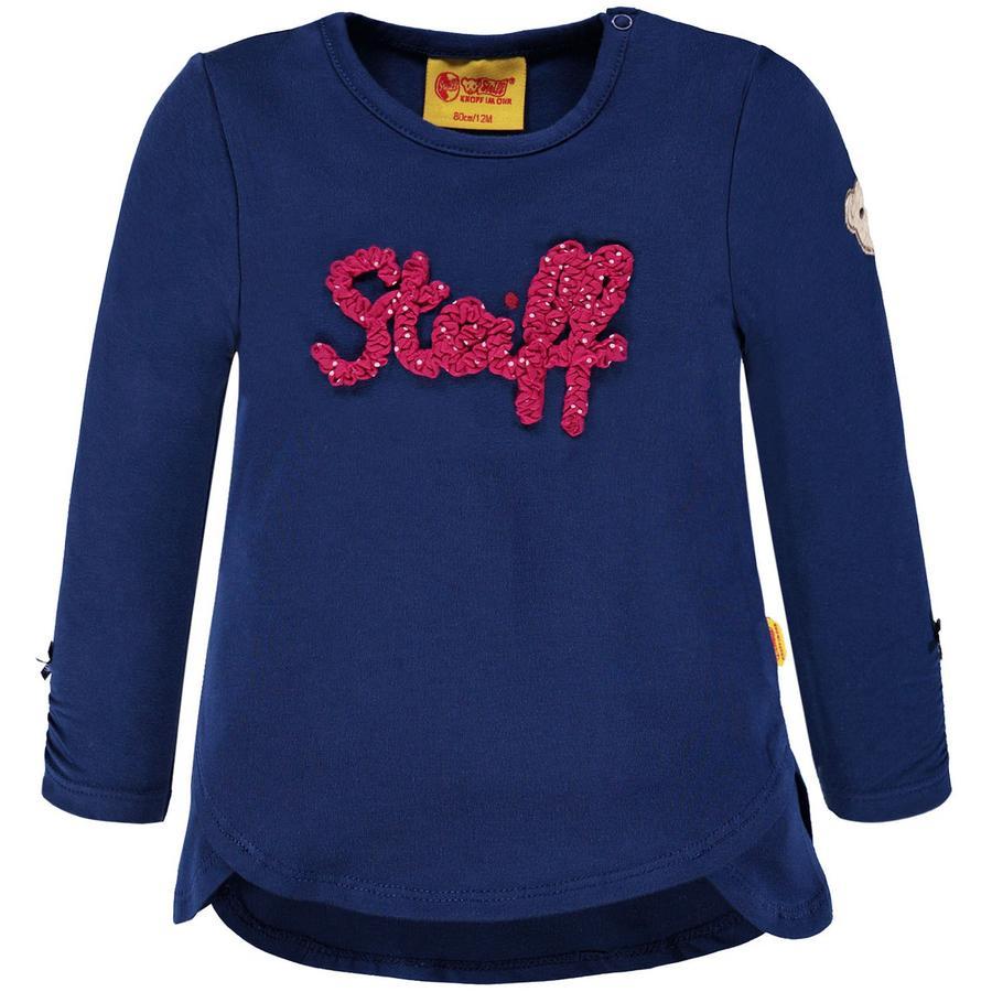 Steiff Girl s Chemise à manches longues, bleue