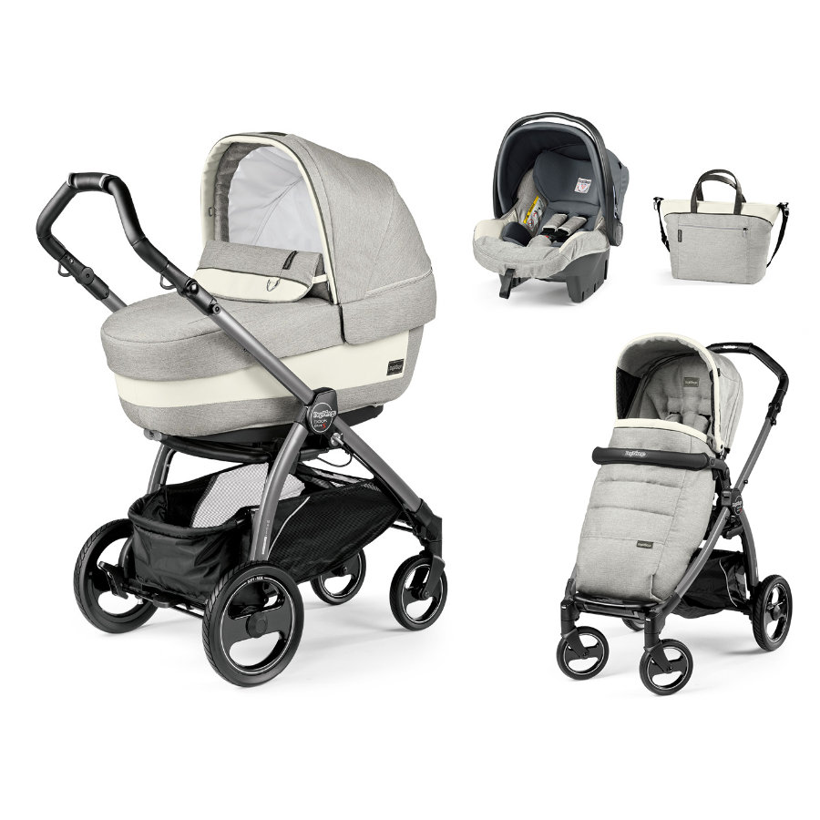 Peg-Perego Pack poussette Book S Elite Modular Jet luxe opal