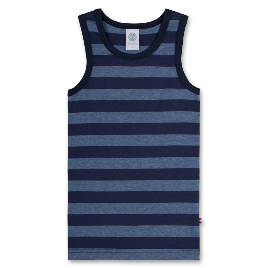 Sanetta Boys Undershirt Stripes blue