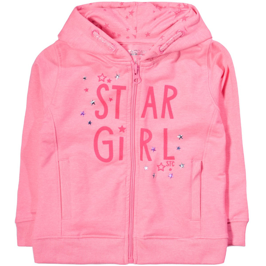 STACCATO Girls Sweatjacke pink structure