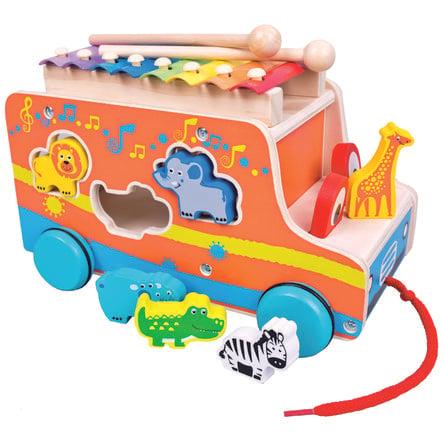 Bino Jouet voiture à enficher, xylophone, bois