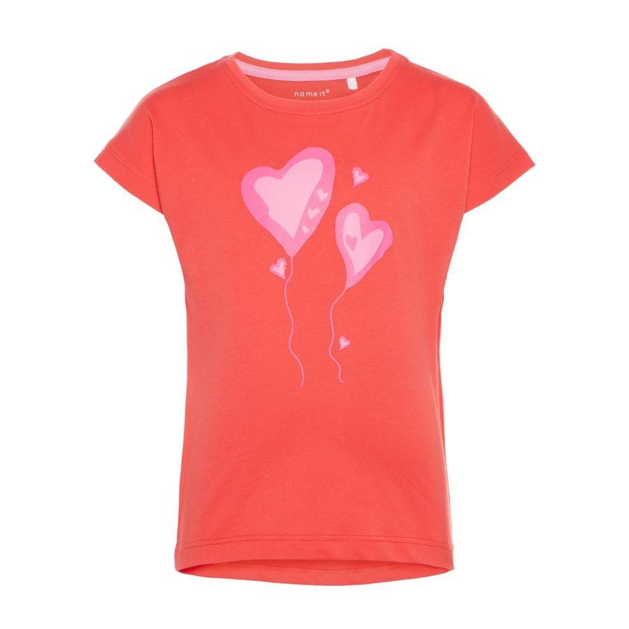 name it Girls T-Shirt Vegas hibiscus