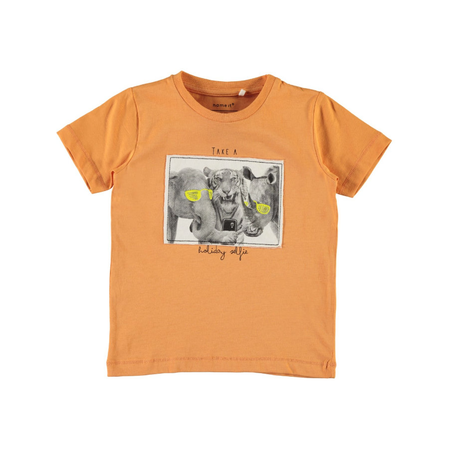 name it Boys T-Shirt Gallo copper tan