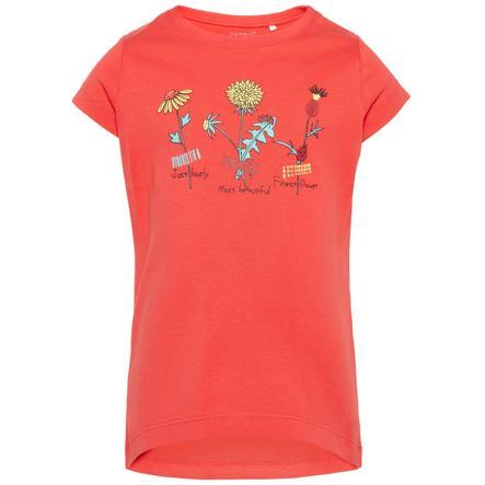 name it Girl s Hibiscus de T-Shirt Veen