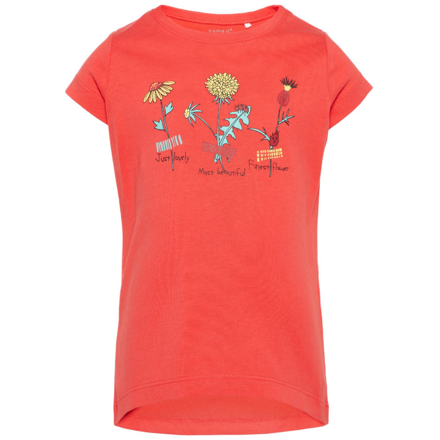 name it Girl s T-Shirt Veen hibiscus