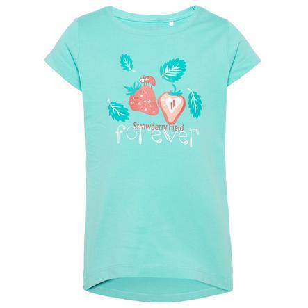 name it Girls Bluzka z krótkim rękawkiem Veen pool blue