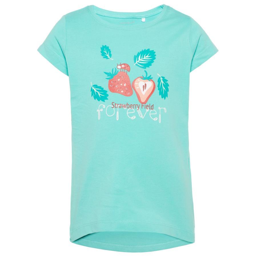 name it Girls T-Shirt Veen pool blue
