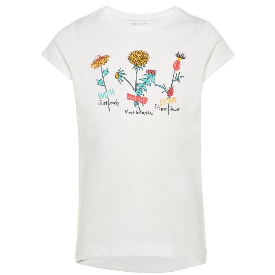 name it Girls T-Shirt Veen bright white