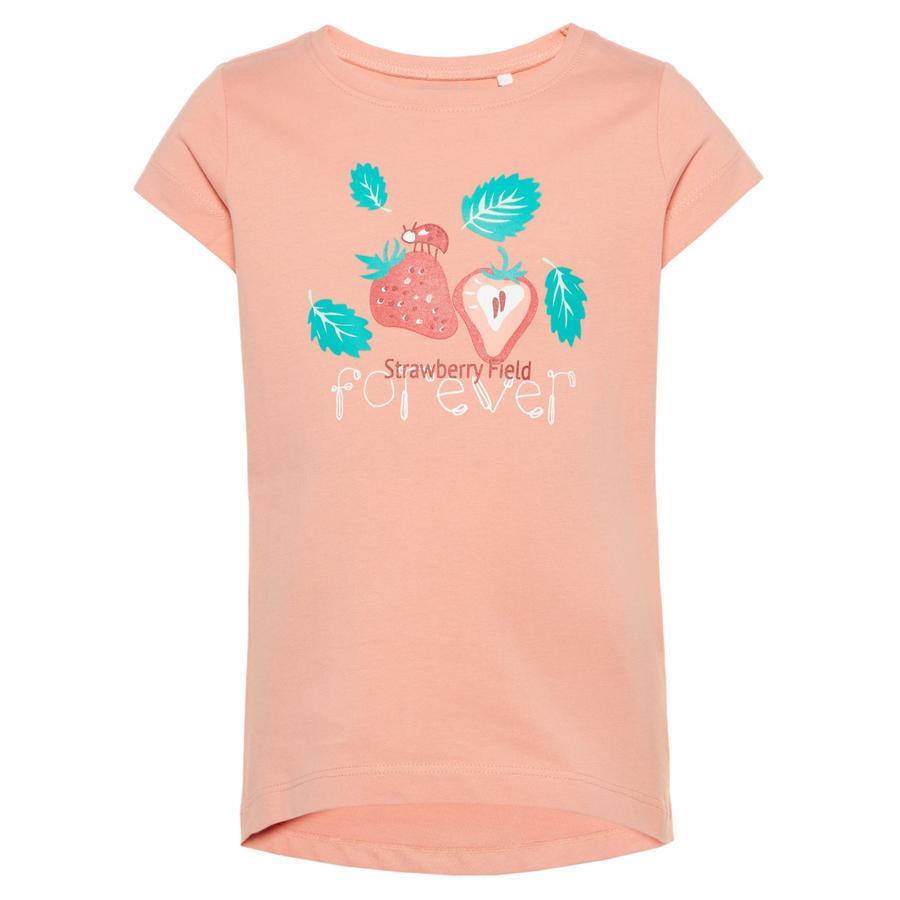 NAME IT Girls Bluzka z krótkim rękawkiem Veen Blooming Dahlia