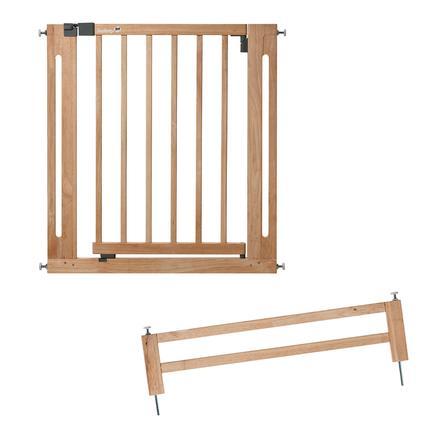 Safety 1st Cancelletto per porte Easy Close, Natural Wood incl. prolunga 16 cm