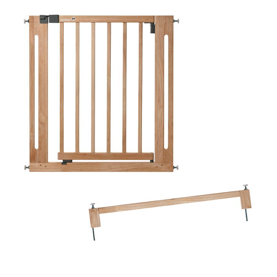 Safety 1st Türschutzgitter Easy Close, Natural Wood inklusive 8 cm Verlängerung