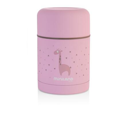 myiland silkeaktig mat termos termisk beholder rosa 600ml