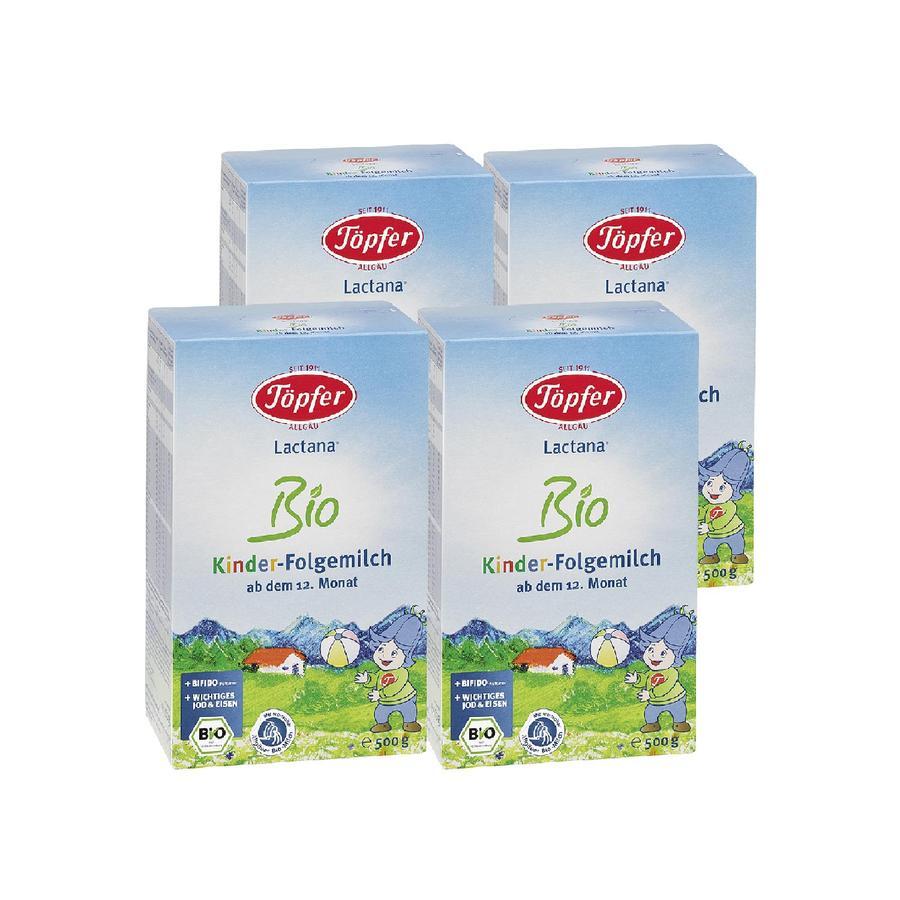 Töpfer Folgemilch Lactana Bio Kinder 4 x 500 g