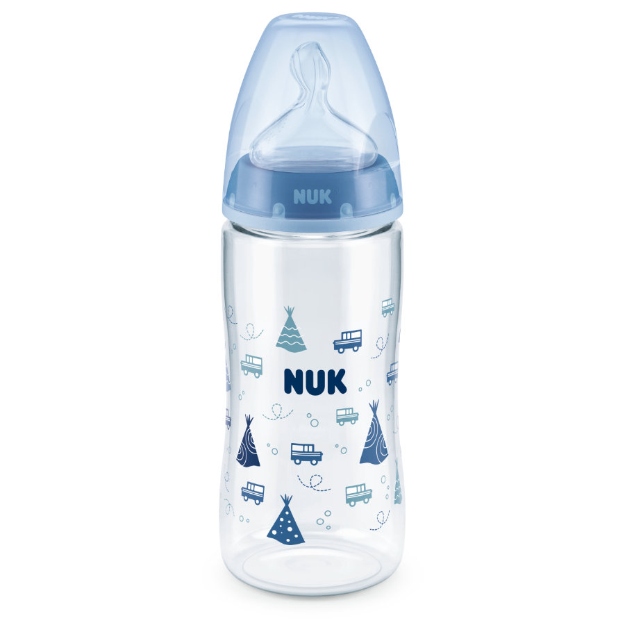 NUK Babyflasche First Choice Plus blau 300 ml ab dem 6. Monat
