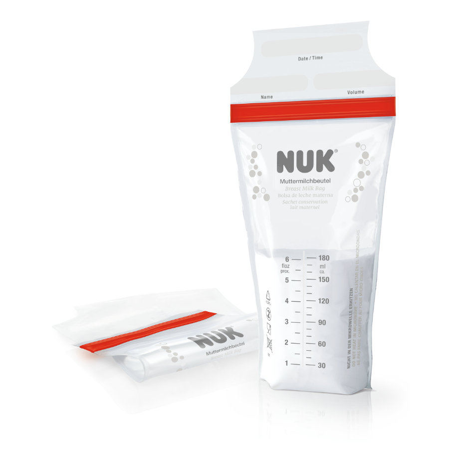 NUK modermælkspose 25 stk. à 180 ml.