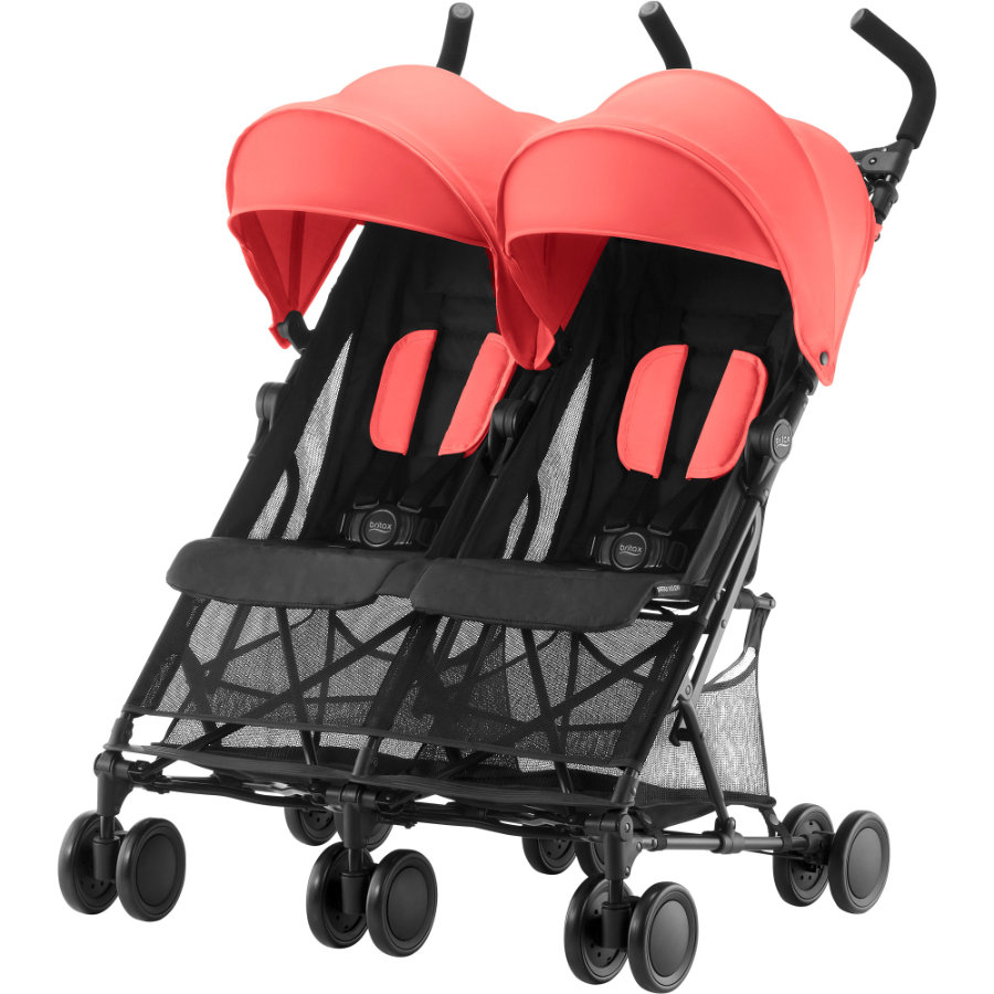 Britax Wózek spacerowy podwójny Holiday Double Coral Peach