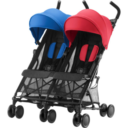 BRITAX Sisarusrattaat Holiday Double, Red/Blue
