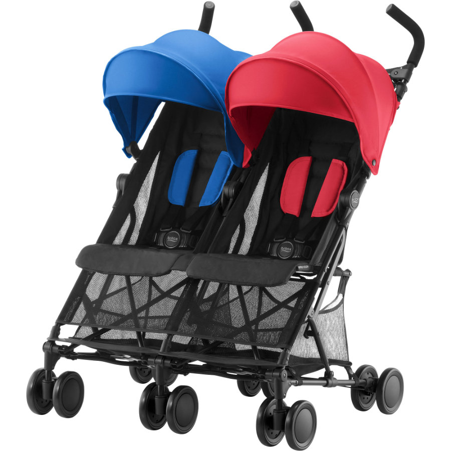 Britax tvillingtrille Holiday Double Red/Blue