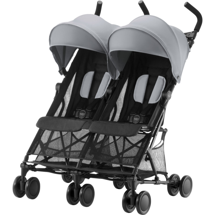 Britax tvillingtrille Holiday Double Steel Grey
