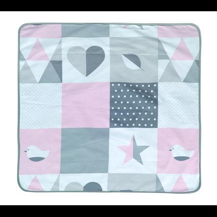 roba Couverture bébé happy patch rose 80 x 80 cm