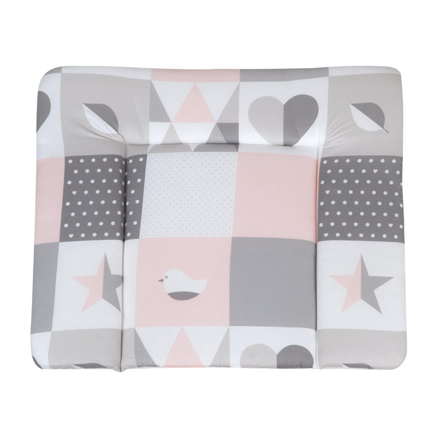 roba aankleedkussen soft Happy Patch rosa 85 x 75 cm