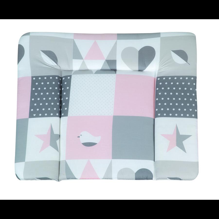 roba Materassino per fasciatoio soft Happy Patch rosa 85 x 75 cm