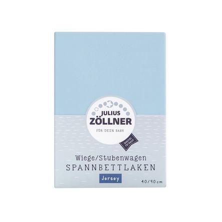 ZÖLLNER Sábana ajustable de punto liso para minicuna color azul claro