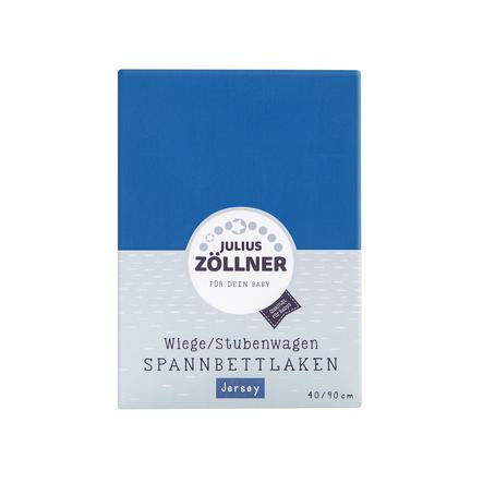 ZÖLLNER Sábana ajustable para minicuna color azul