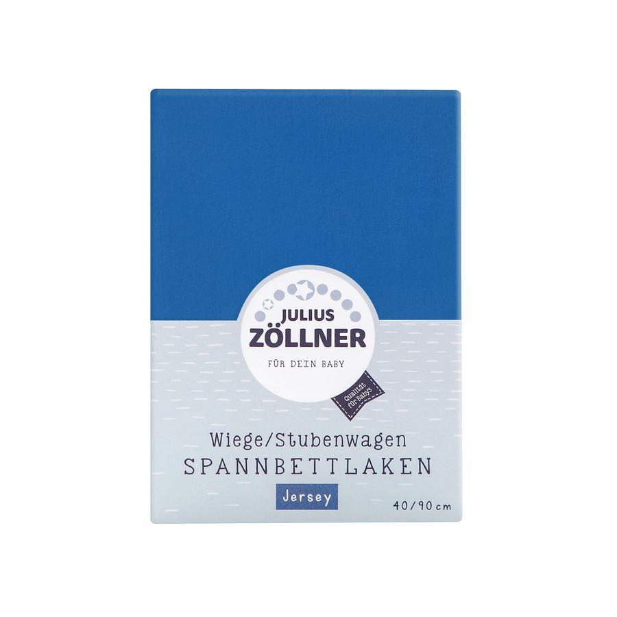 JULIUS ZÖLLNER Spannbetttuch Jersey für Wiege blau