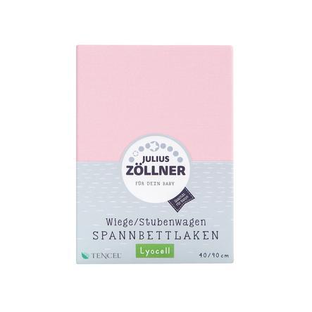 ZÖLLNER Lenzuolo in Jersey con Angoli Elastici per Cullino, rosa